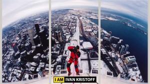 въжедостъпни операции с Човека паяк Иван Кристоф на най-високата сграда