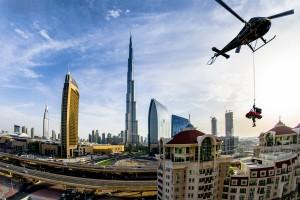 Човека паяк в Дубай