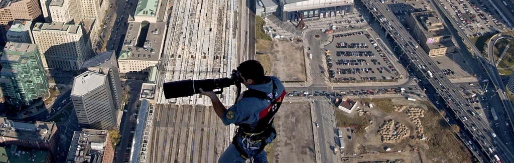 التصوير وصول الحبل على برج CN