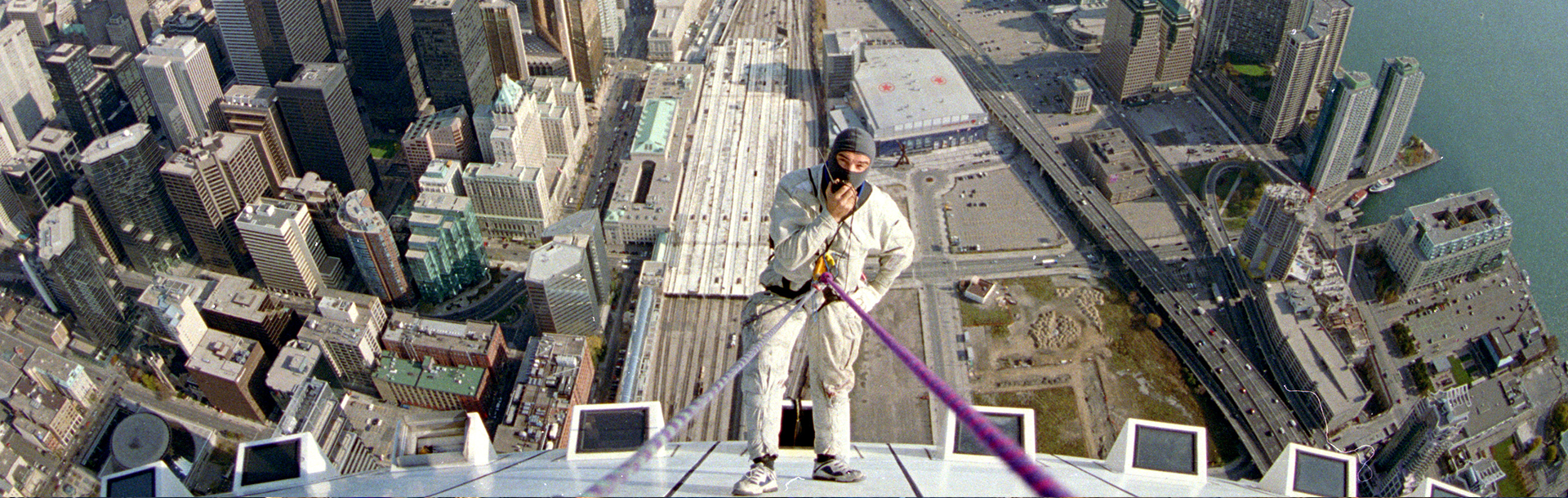 Rope Access Rappelling from World's Tallest building