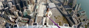 Rope Access Rappelling on the CN Tower